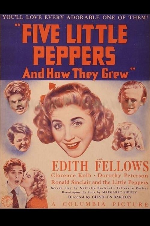 Tommy Bond, Edith Fellows, Jimmy Leake, Charles Peck, and Dorothy Anne Seese in Five Little Peppers and How They Grew (1939)