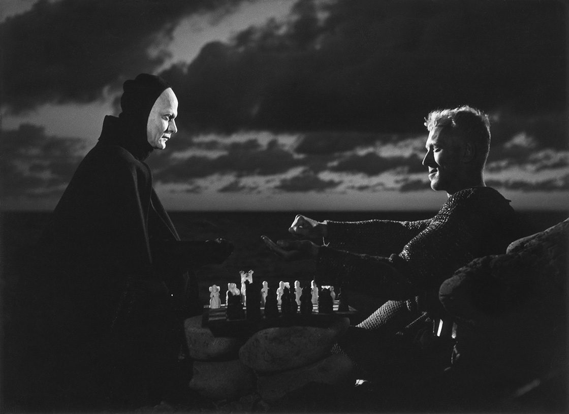 Max von Sydow and Bengt Ekerot in Det sjunde inseglet (1957)
