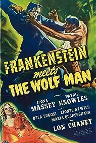 Bela Lugosi, Lon Chaney Jr., and Ilona Massey in Frankenstein Meets the Wolf Man (1943)