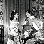 Claudine Auger and Jean Marais in Le masque de fer (1962)