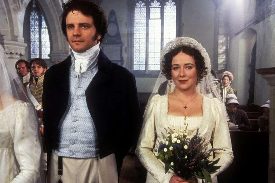Colin Firth, Jennifer Ehle, Anthony Calf, and Rupert Vansittart in Pride and Prejudice (1995)