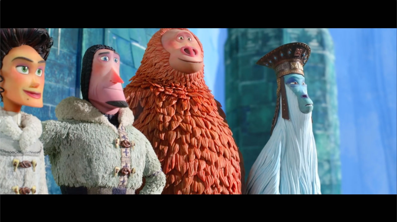 Emma Thompson, Zach Galifianakis, Hugh Jackman, and Zoe Saldana in Missing Link (2019)