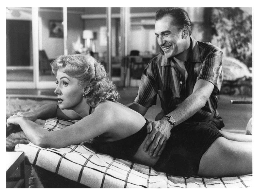 Vincent Price and Rhonda Fleming in While the City Sleeps (1956)