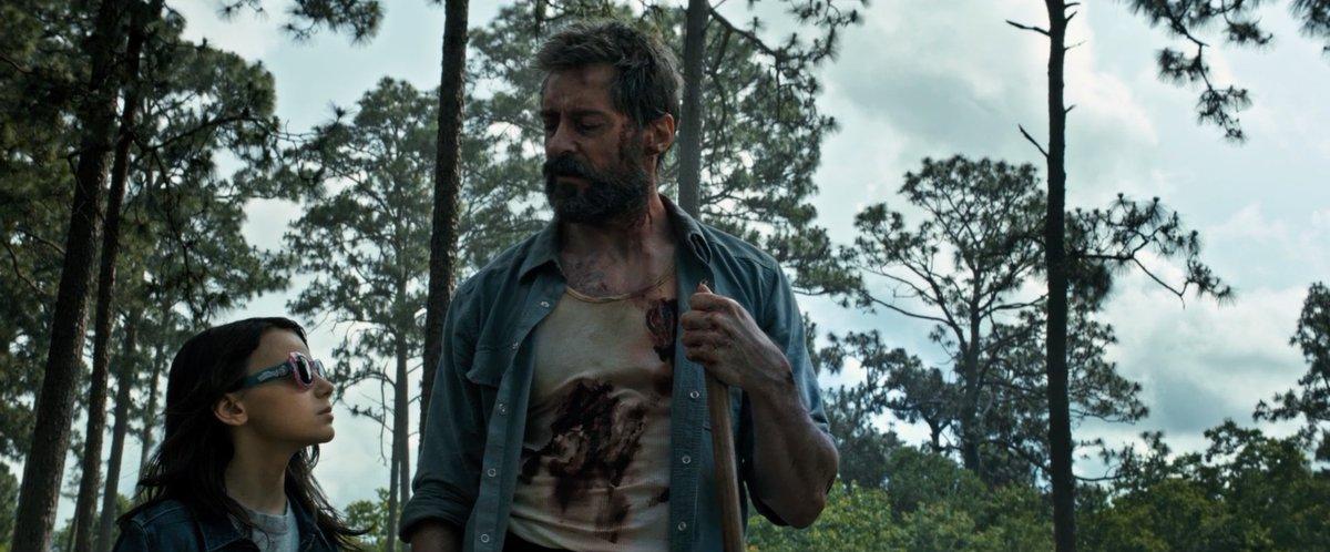 Hugh Jackman and Dafne Keen in Logan (2017)