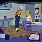 Gillian Anderson, David Duchovny, and Dan Castellaneta in The Simpsons (1989)