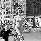Sylva Koscina and Edoardo Nevola in Il ferroviere (1956)