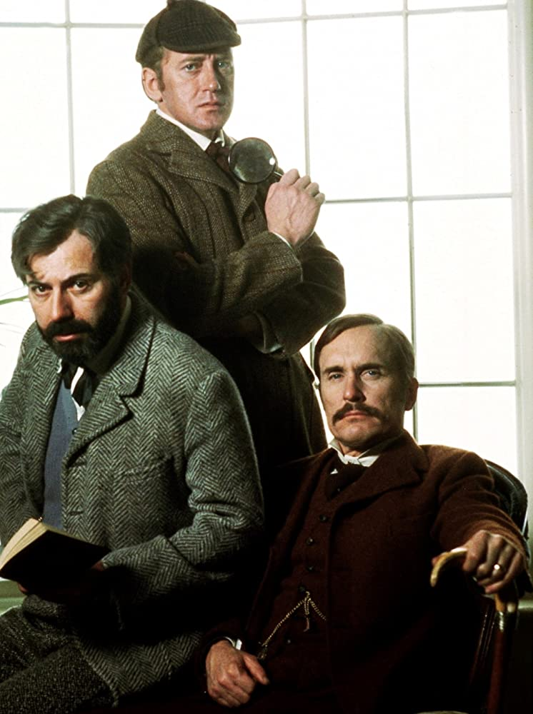 Alan Arkin, Robert Duvall, and Nicol Williamson in The Seven-Per-Cent Solution (1976)