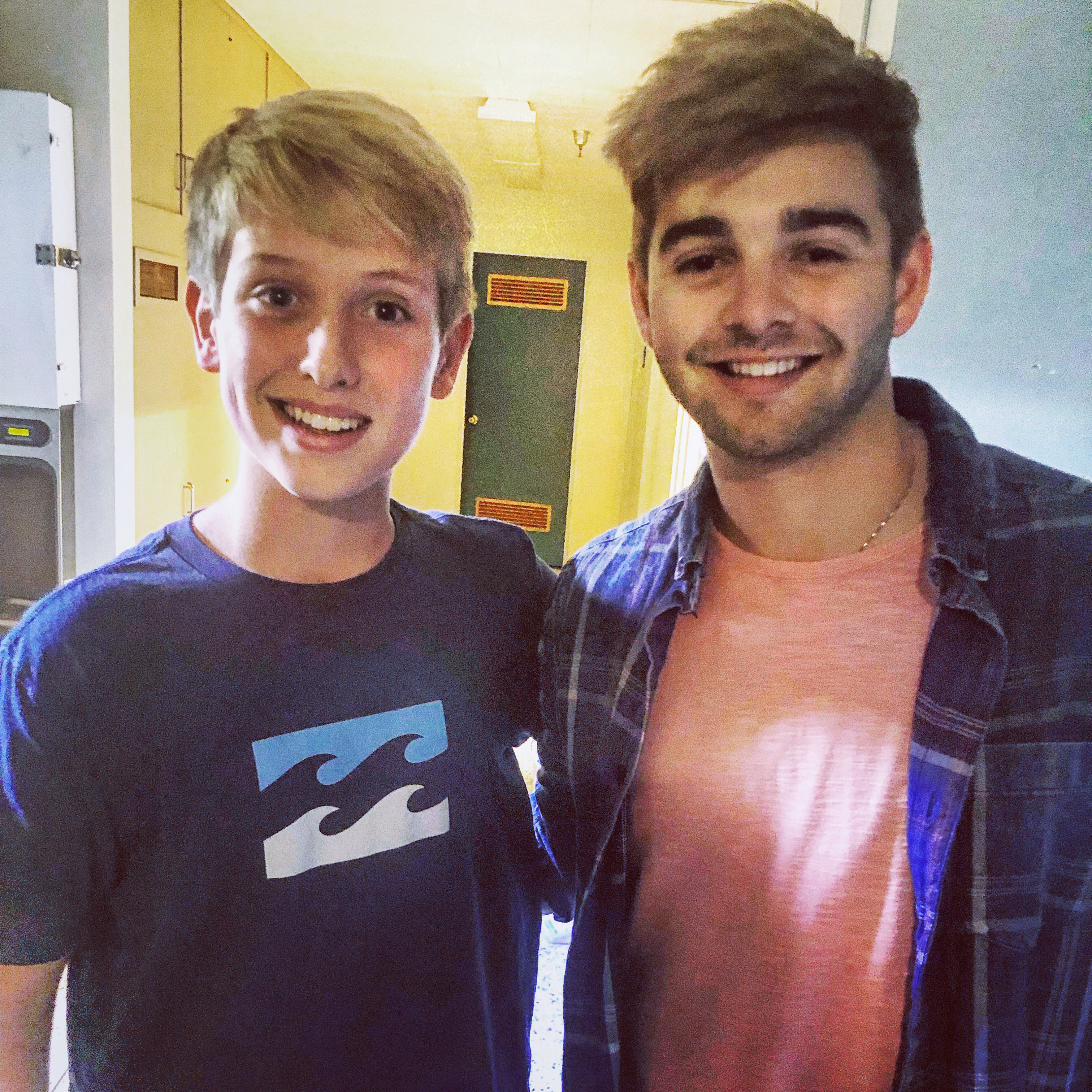 Behind the scenes with Jake Satow and Jack Griffo on the set of Snoozefest.