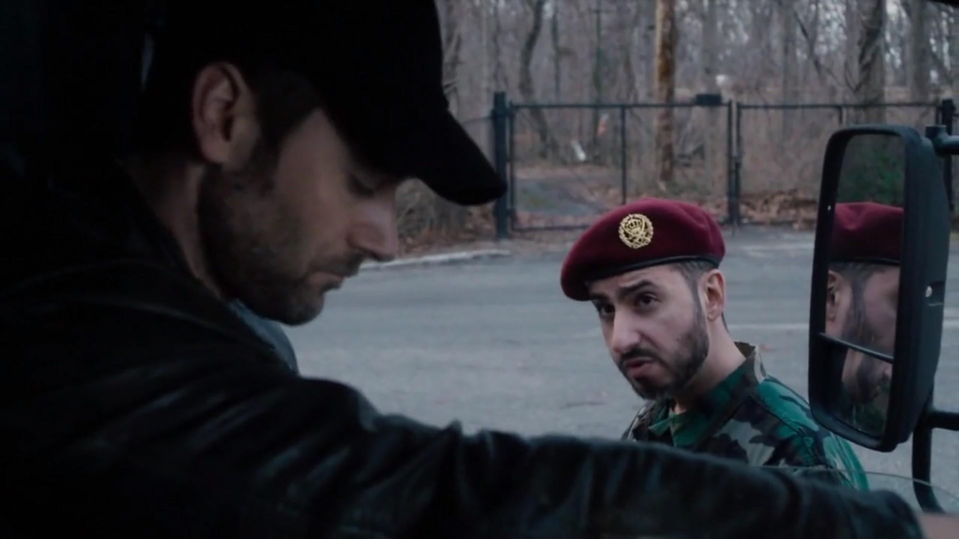 Ryan Eggold and Adam Gagan in The Blacklist: Redemption (2017)