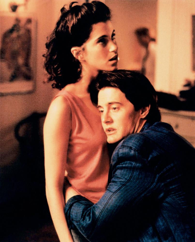 Jami Gertz and Kyle MacLachlan in Don't Tell Her It's Me (1990)