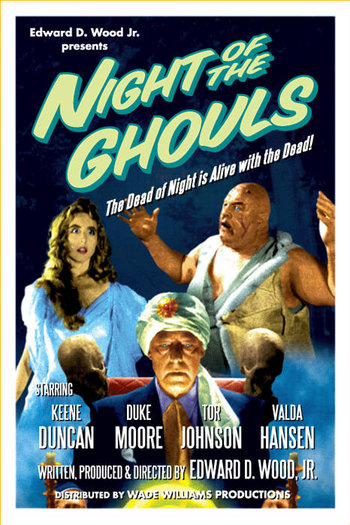 Kenne Duncan, Valda Hansen, and Tor Johnson in Night of the Ghouls (1959)