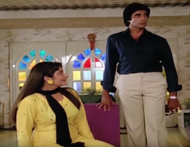 Amitabh Bachchan and Sheetal in Bemisal (1982)