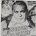 Chester Morris, George E. Stone, and Constance Worth in Boston Blackie Goes Hollywood (1942)