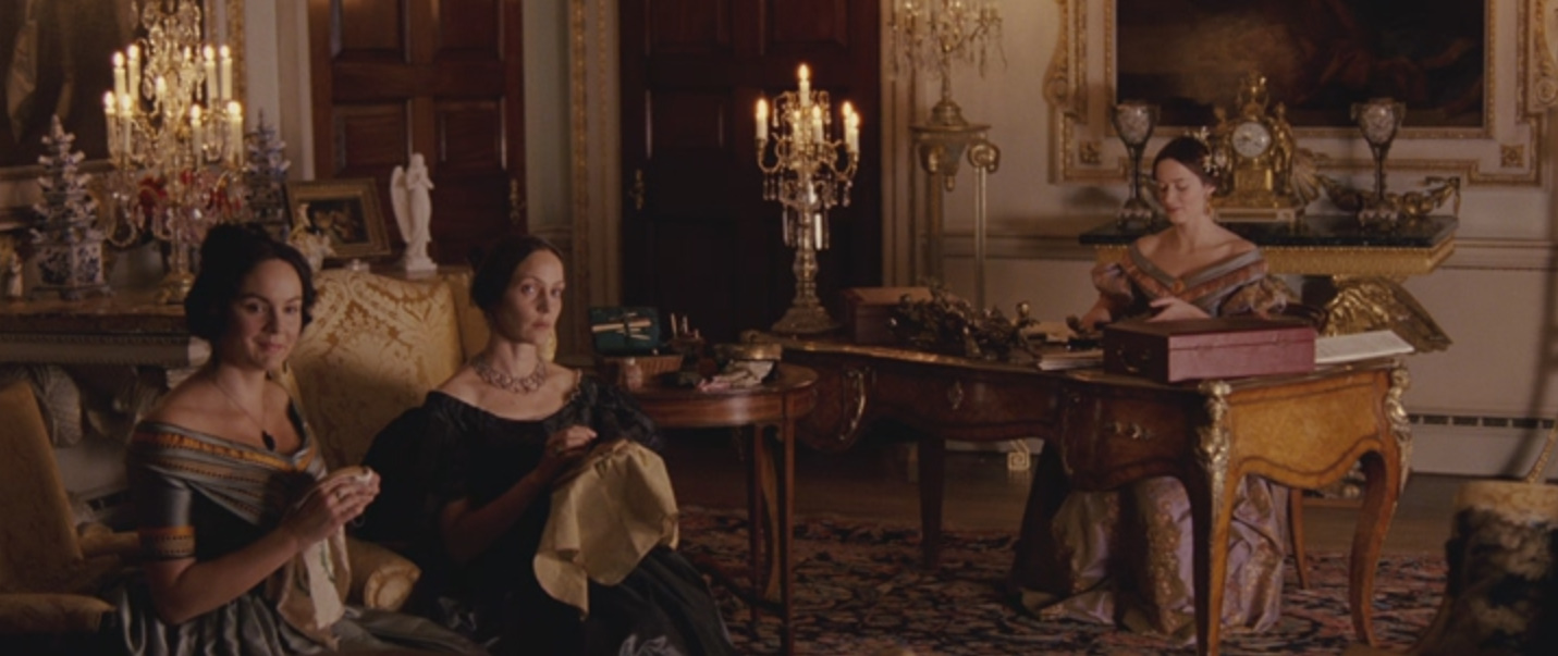Jo Hartley, Rachael Stirling, and Emily Blunt in The Young Victoria (2009)