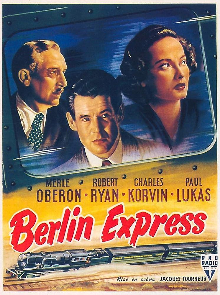 Paul Lukas, Merle Oberon, and Robert Ryan in Berlin Express (1948)