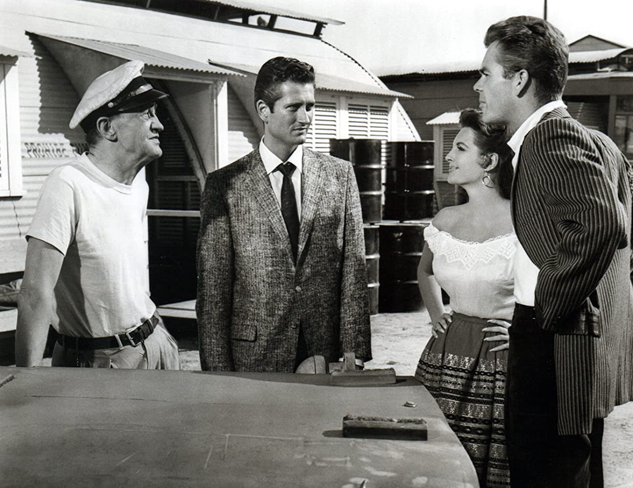 John Drew Barrymore, Dean Jones, Julie London, and Arthur Shields in Night of the Quarter Moon (1959)