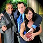 """ON THE SET OF """"DOUBLE DUTY"""" TOM SIZEMORE, MIMI LESSEOS , ALFONSO FREEMAN"""