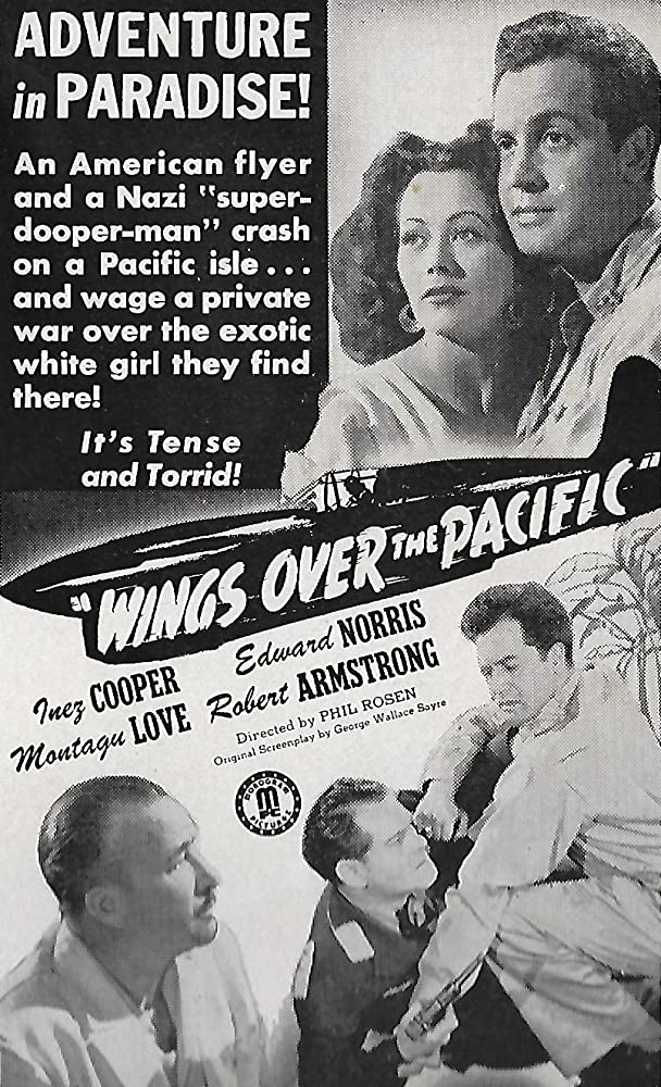 Robert Armstrong, Inez Cooper, Henry Guttman, and Edward Norris in Wings Over the Pacific (1943)