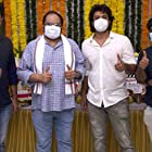 Srujan Yarabolu, Satyadev Kancharana, Mahesh S. Koneru, and Sharan Koppisetty at an event for Thimmarusu: Assignment Vali (2021)