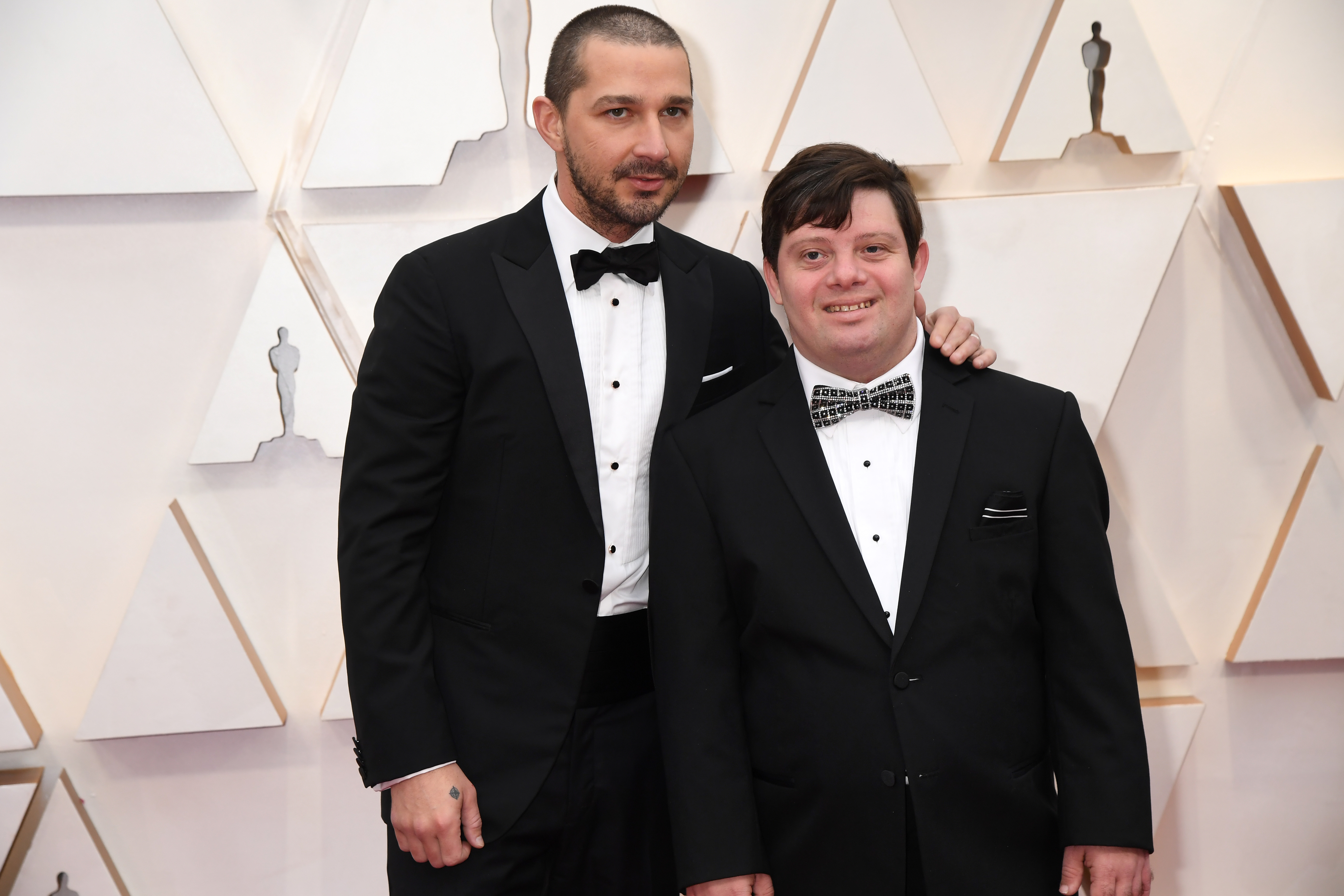 Shia LaBeouf and Zack Gottsagen at an event for The Oscars (2020)