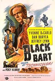 Yvonne De Carlo, Dan Duryea, Percy Kilbride, and Jeffrey Lynn in Black Bart (1948)