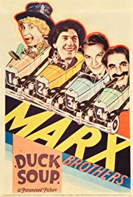 Groucho Marx, Chico Marx, Harpo Marx, Zeppo Marx, and The Marx Brothers in Duck Soup (1933)