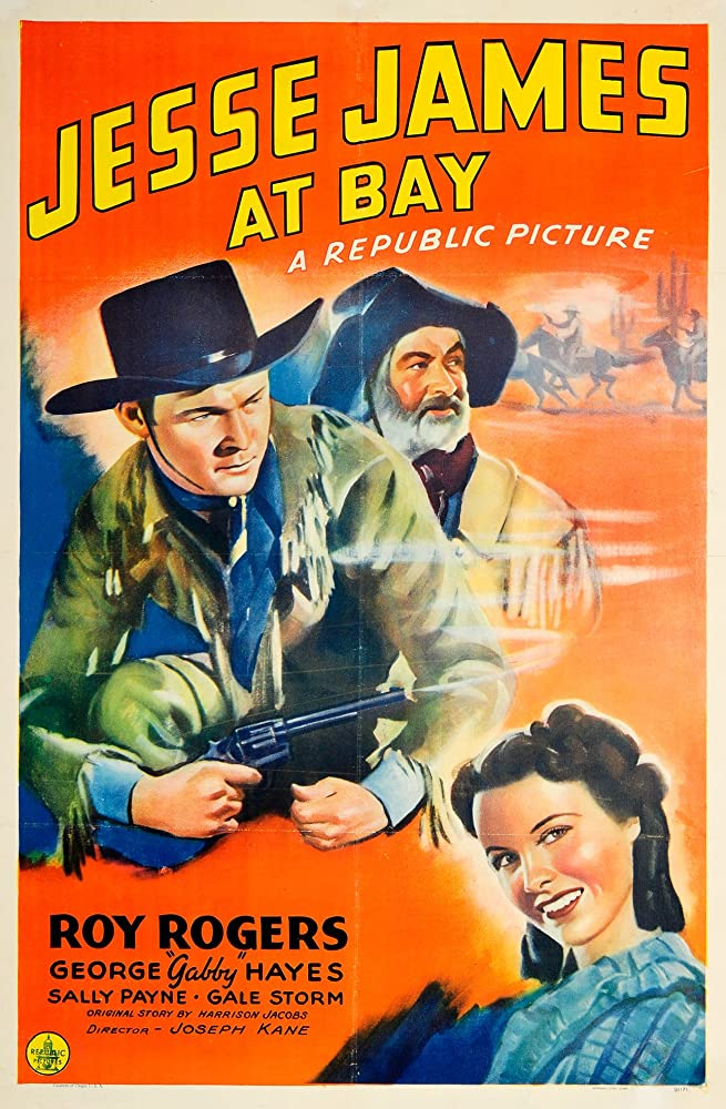 Roy Rogers, George 'Gabby' Hayes, and Gale Storm in Jesse James at Bay (1941)