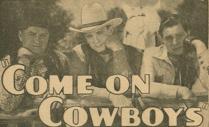 Ray Corrigan, Robert Livingston, and Max Terhune in Come on, Cowboys (1937)