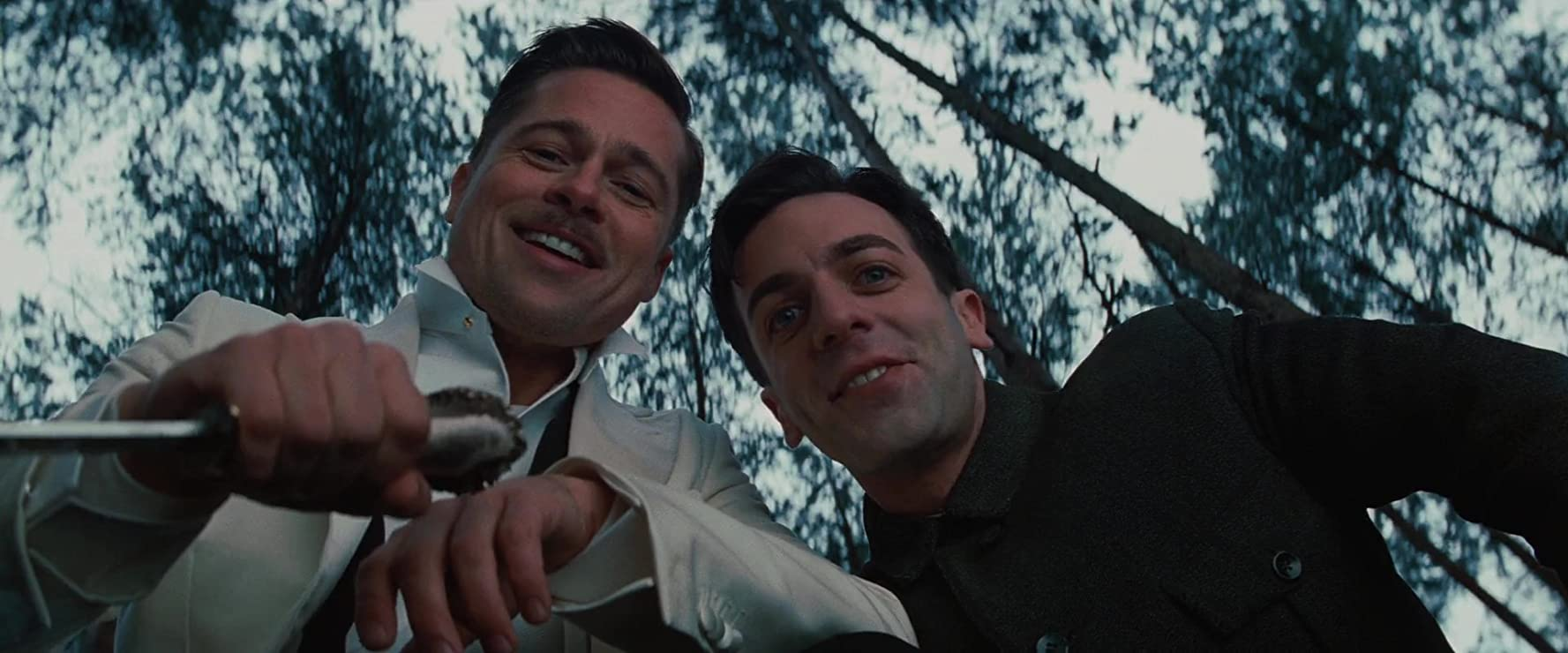 Brad Pitt and B.J. Novak in Inglourious Basterds (2009)