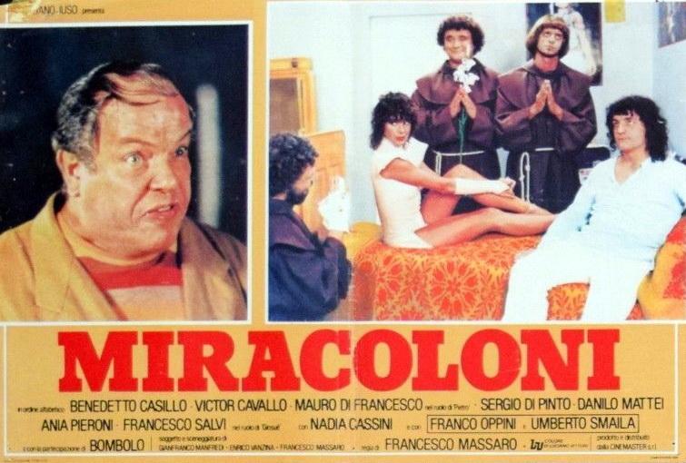 Bombolo, Nadia Cassini, Franco Oppini, Francesco Salvi, and Umberto Smaila in Miracoloni (1981)