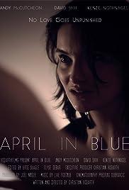April in Blue Poster