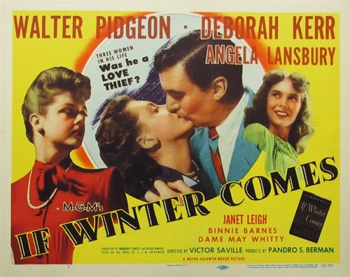 Deborah Kerr, Angela Lansbury, Janet Leigh, and Walter Pidgeon in If Winter Comes (1947)