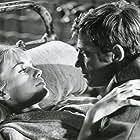 Jean-Paul Belmondo and Catherine Spaak in Week-end à Zuydcoote (1964)