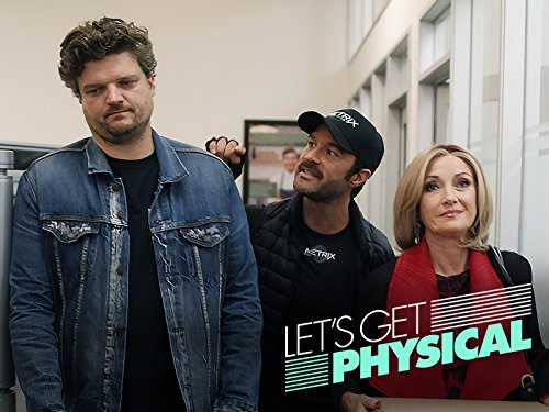 Jane Seymour, Chris Diamantopoulos, and Matt Jones in Let's Get Physical (2018)