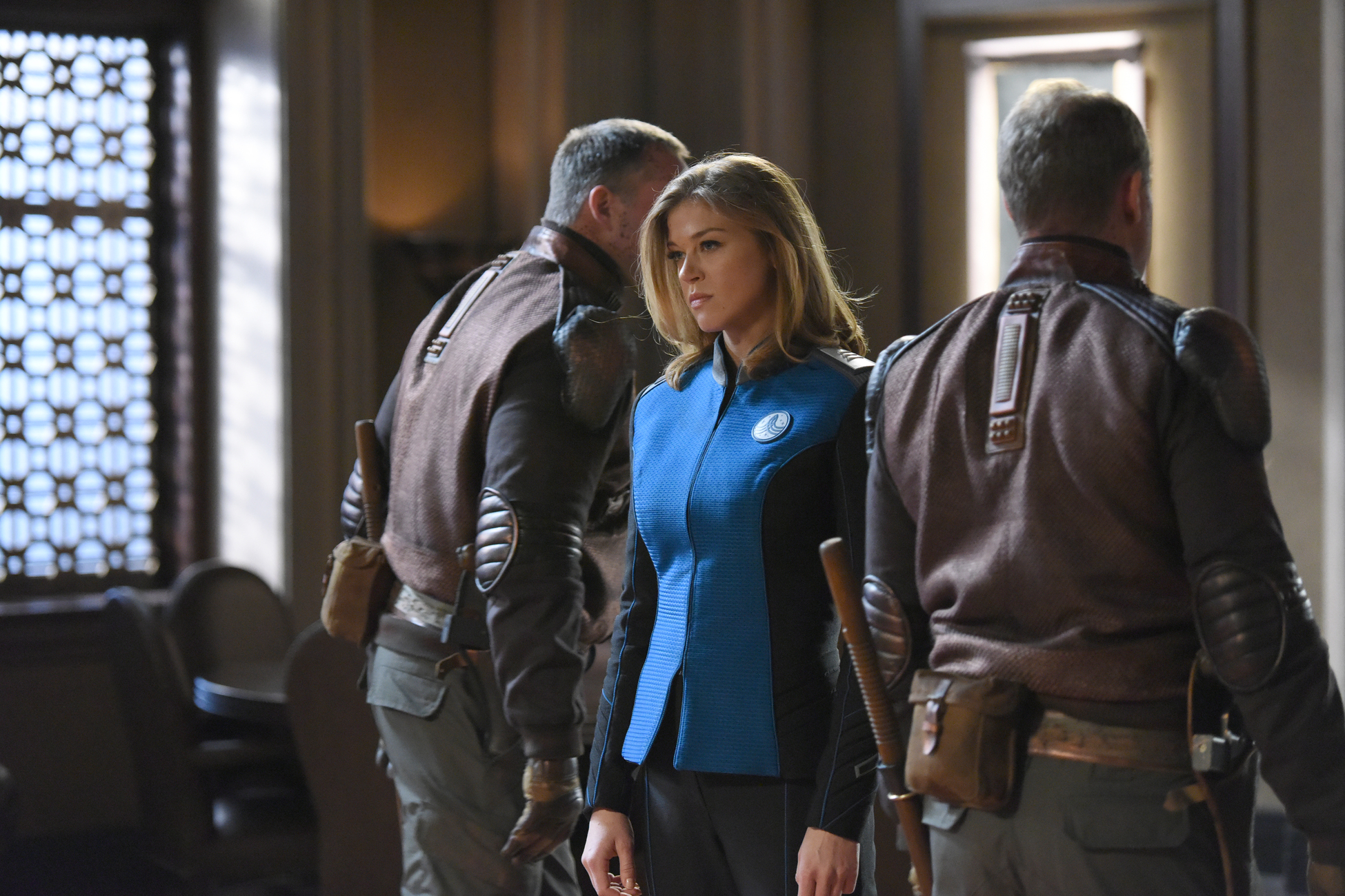 Michael Duisenberg, Adrianne Palicki, and Derek Graf in The Orville (2017)