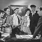Buster Larsen, Bodil Miller, Dirch Passer, Kjeld Petersen, and Ove Sprogøe in Det var paa Rundetaarn (1955)