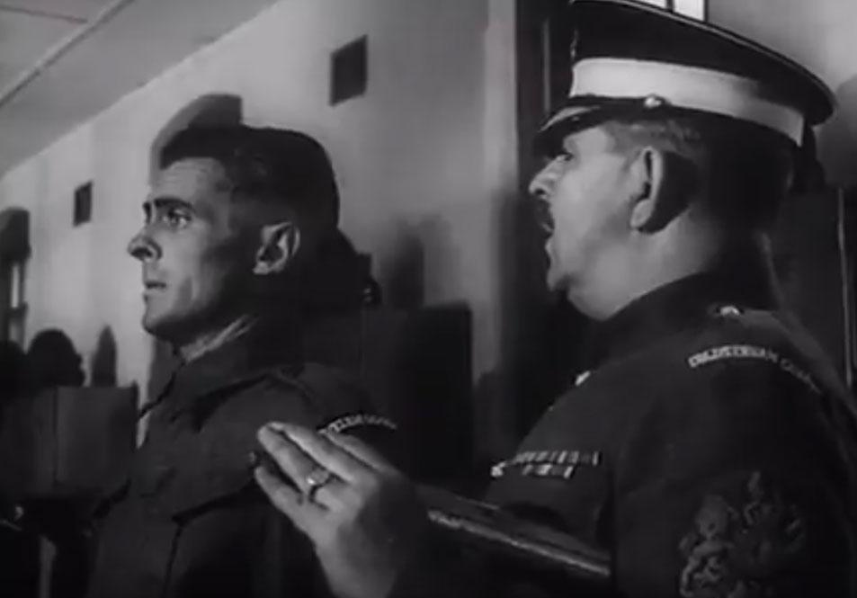 R.S.M. Brittain and Edward Underdown in They Were Not Divided (1950)