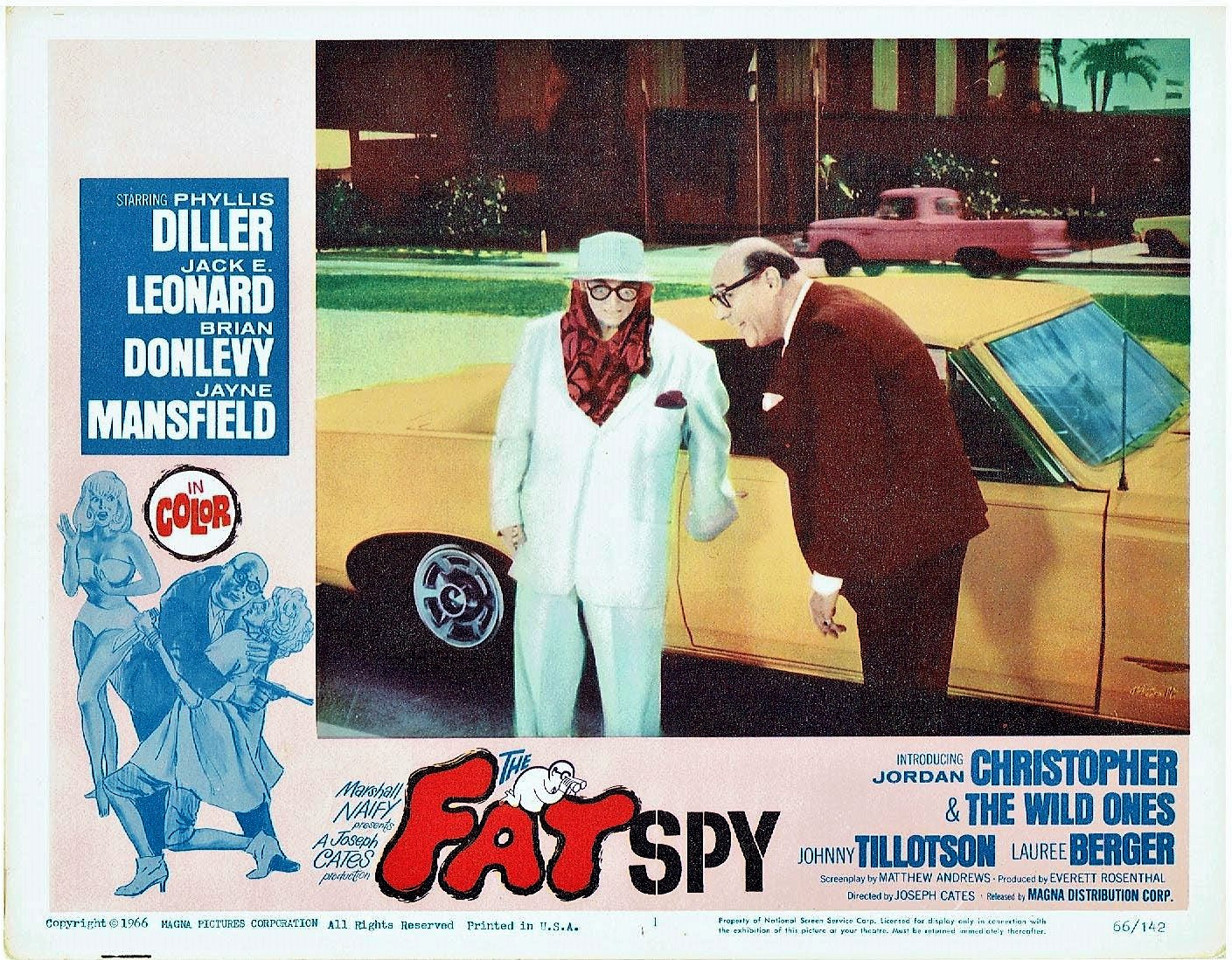Phyllis Diller, Jack E. Leonard, and Johnny Tillotson in The Fat Spy (1966)