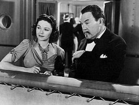 Sidney Toler and Marjorie Weaver in Charlie Chan's Murder Cruise (1940)