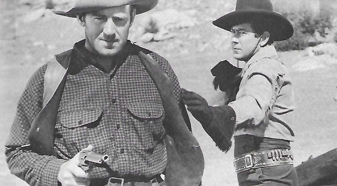 Roy Barcroft and Johnny Mack Brown in Flaming Frontiers (1938)