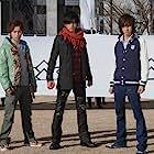 Shôgo Suzuki, Hiroki Aiba, Rin Takanashi, Tôri Matsuzaka, and Suzuka Morita in Samurai Sentai Shinkenjâ (2009)