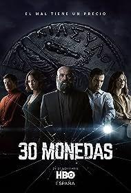 Eduard Fernández, Manolo Solo, Macarena Gómez, Miguel Ángel Silvestre, and Megan Montaner in 30 Monedas (2020)