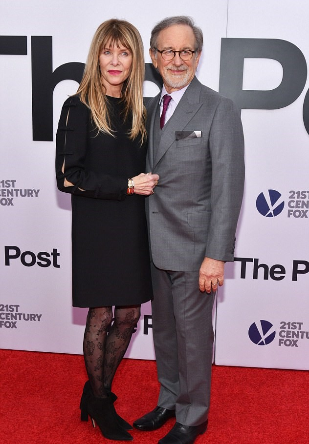 Steven Spielberg and Kate Capshaw at an event for The Post (2017)