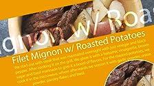 Filet Mignon con glaseado de vinagreta balsámica sobre papas asadas