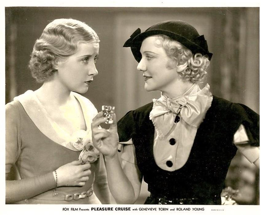Minna Gombell and Genevieve Tobin in Pleasure Cruise (1933)