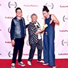 Joe Garcia, Selma Bukstein, and Taryn Hough at the Culver City Film Festival 12.17. A short documentary Taryn made, in which Selma was the lead subject, won the Audience Choice Documentary Award at the festival