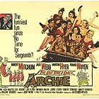 Robert Mitchum, Claudia Barrett, Joe Flynn, Martha Hyer, Don Knotts, France Nuyen, Louis Nye, and Jack Webb in The Last Time I Saw Archie (1961)