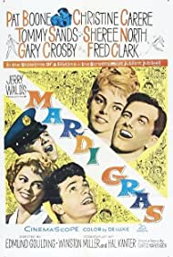 Pat Boone, Christine Carère, Gary Crosby, Sheree North, and Tommy Sands in Mardi Gras (1958)