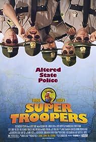 Brian Cox, Marisa Coughlan, Jay Chandrasekhar, Kevin Heffernan, Steve Lemme, Paul Soter, and Erik Stolhanske in Super Troopers (2001)