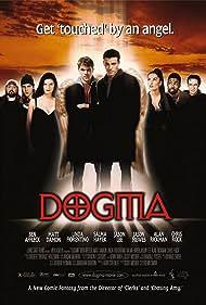 Salma Hayek, Ben Affleck, Matt Damon, Linda Fiorentino, Alan Rickman, Chris Rock, Kevin Smith, and Jason Mewes in Dogma (1999)